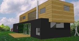 Maison bioclimatique à Ennetières-en-Weppes